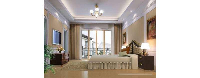 5-10万80平米欧式二居室装修效果图,两室两厅现代简欧