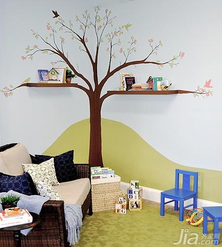 儿童房手绘墙画 想象力迸发的时代