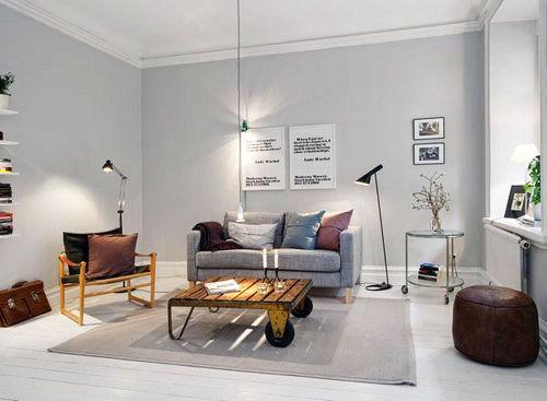 宜家风格公寓乐活12平米客厅设计图_齐家网装修效果图