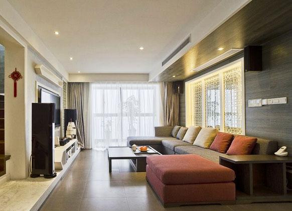 中式风格简洁客厅装修效果图