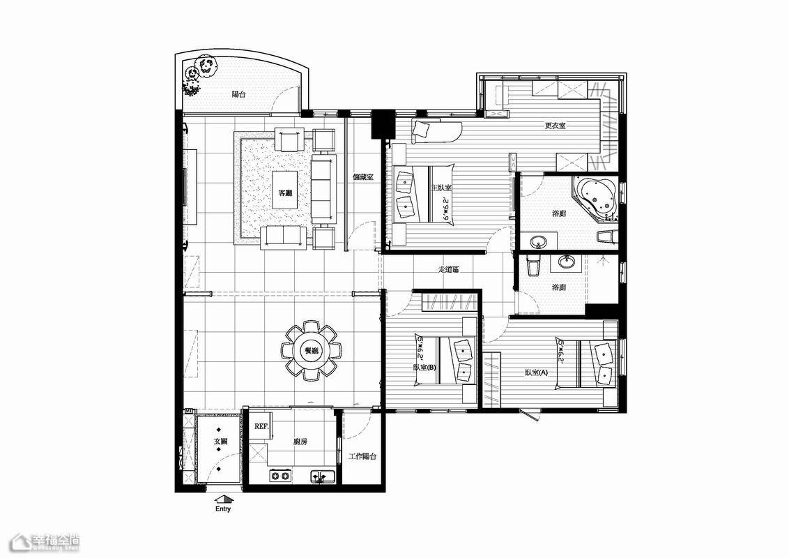 新古典风格公寓豪华户型图