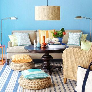 欧式风格蓝色欧式客厅装潢