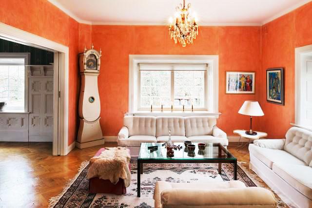 欧式风格暖色调欧式客厅装修效果图