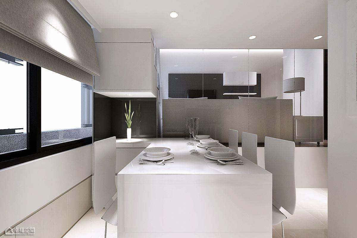简约风格挑高户型简洁餐厅设计图