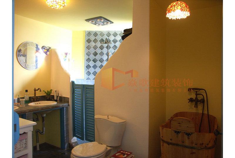 15 20万130平米地中海三居室装修效果图,最爱蓝色小清新 地中海三高清图片
