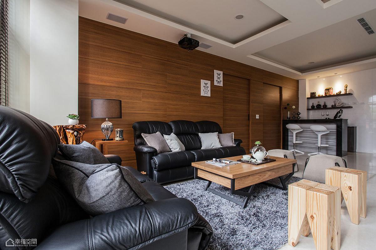 中式风格公寓稳重沙发效果图