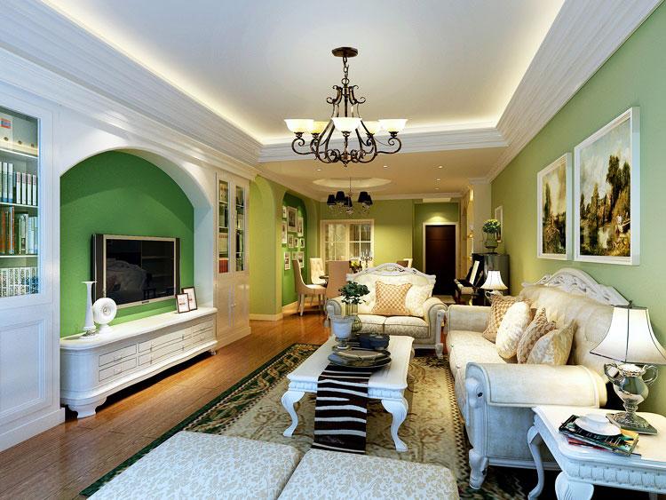 欧式风格欧式客厅欧式电视背景墙装修效果图