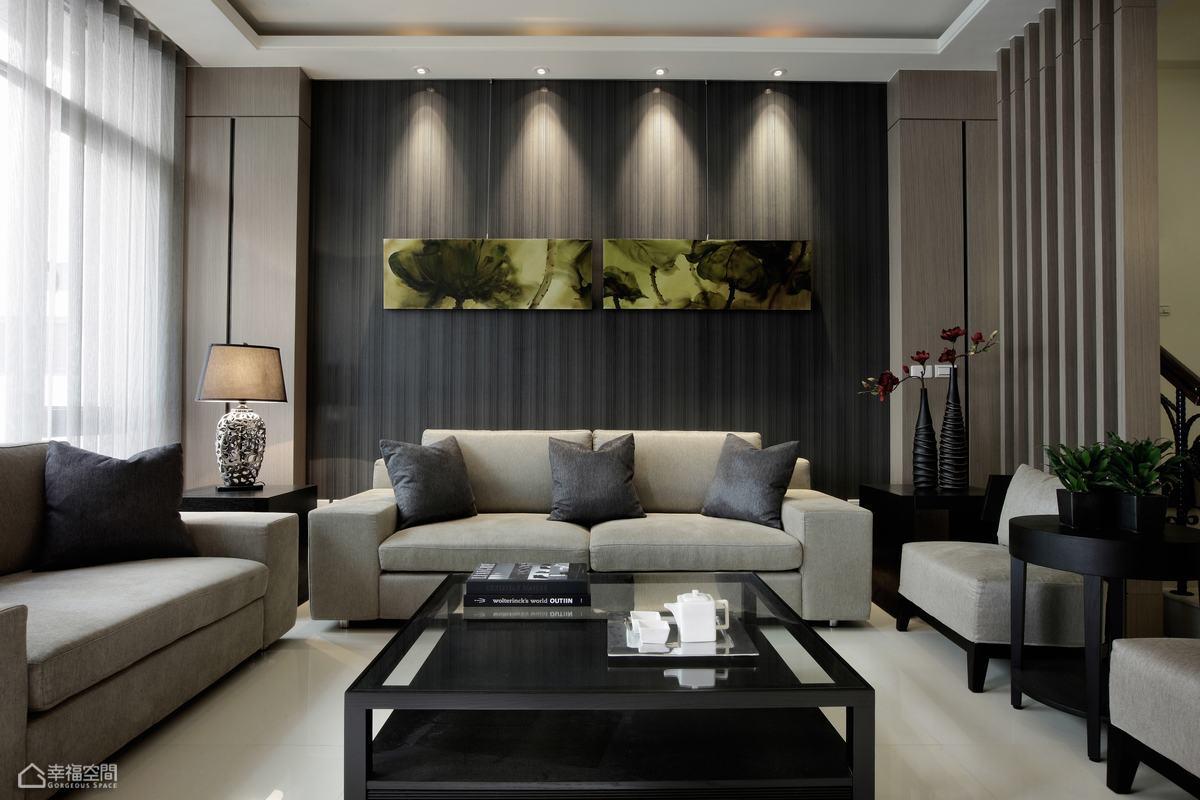 简约风格别墅时尚沙发背景墙效果图