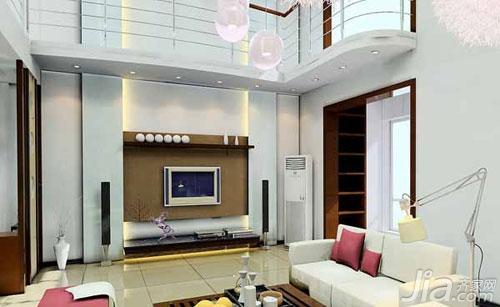 一般的挑空客厅是出现在别墅或者是复合式的大户型两层楼里,因为在图片