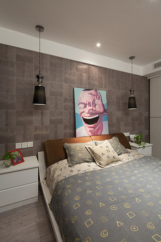 现代简约风格二居室时尚卧室装修效果图