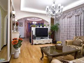 打造别致客厅 21款欧式电视背景墙
