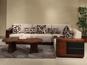 实木布艺沙发5套图