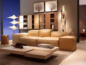 大气的米色皮沙发8图展示