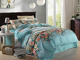 蓝色床单三件套  舒适梦幻