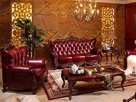 客厅沙发套件红色来袭