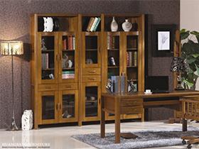 书房家居稳重实木书柜款式多样值得一看