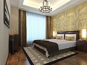 中國風格高雅造型優美色彩濃重的現代臥室系列