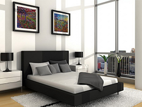 滿足功能的基礎上最大程度簡潔的臥房家具極具中性色彩