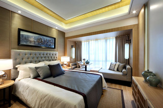 中式风格温馨140平米以上沙发床效果图