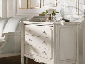 清新美貌 7圖展示白色床頭柜