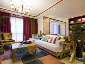 简约的素色沙发
