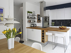18种开放式厨房设计图 不一样的简约风