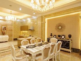欧式餐边柜打造高贵餐厅