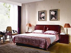 簡易的線條勾畫出臥室的舒適感