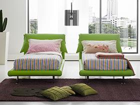 綠色創意床效果圖