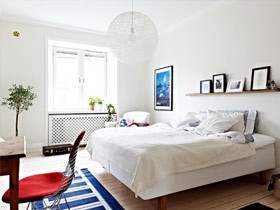 木色和米色的卧室能给带来温暖感觉
