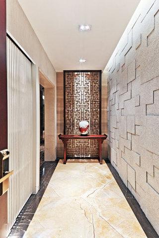 中式风格稳重玄关设计