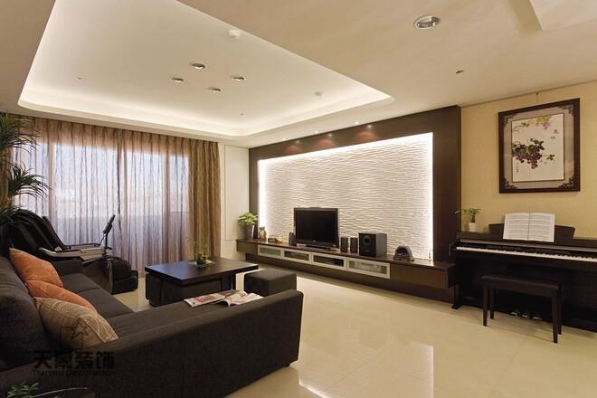 新中式素雅温馨禅风雅居装修效果图,室内设计效果图图片