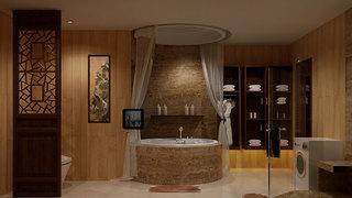 中式风格时尚黄色卫生间装潢