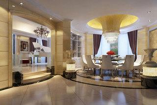 欧式风格奢华餐厅吊顶设计图