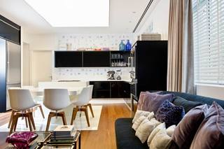 简约风格舒适蓝色客厅沙发布艺沙发效果图