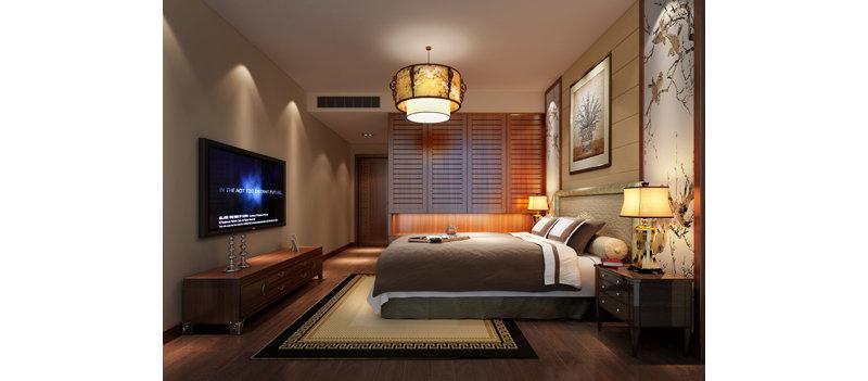 15-20万120平米中式三居室装修效果图,新中式装修案例图片