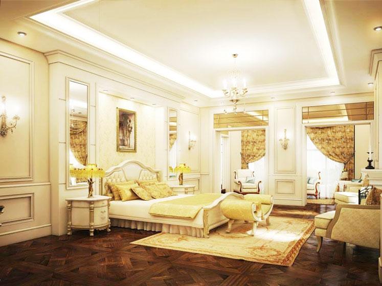 欧式风格奢华卧室床效果图
