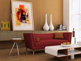 弥补客厅中电视机背景墙面的空旷