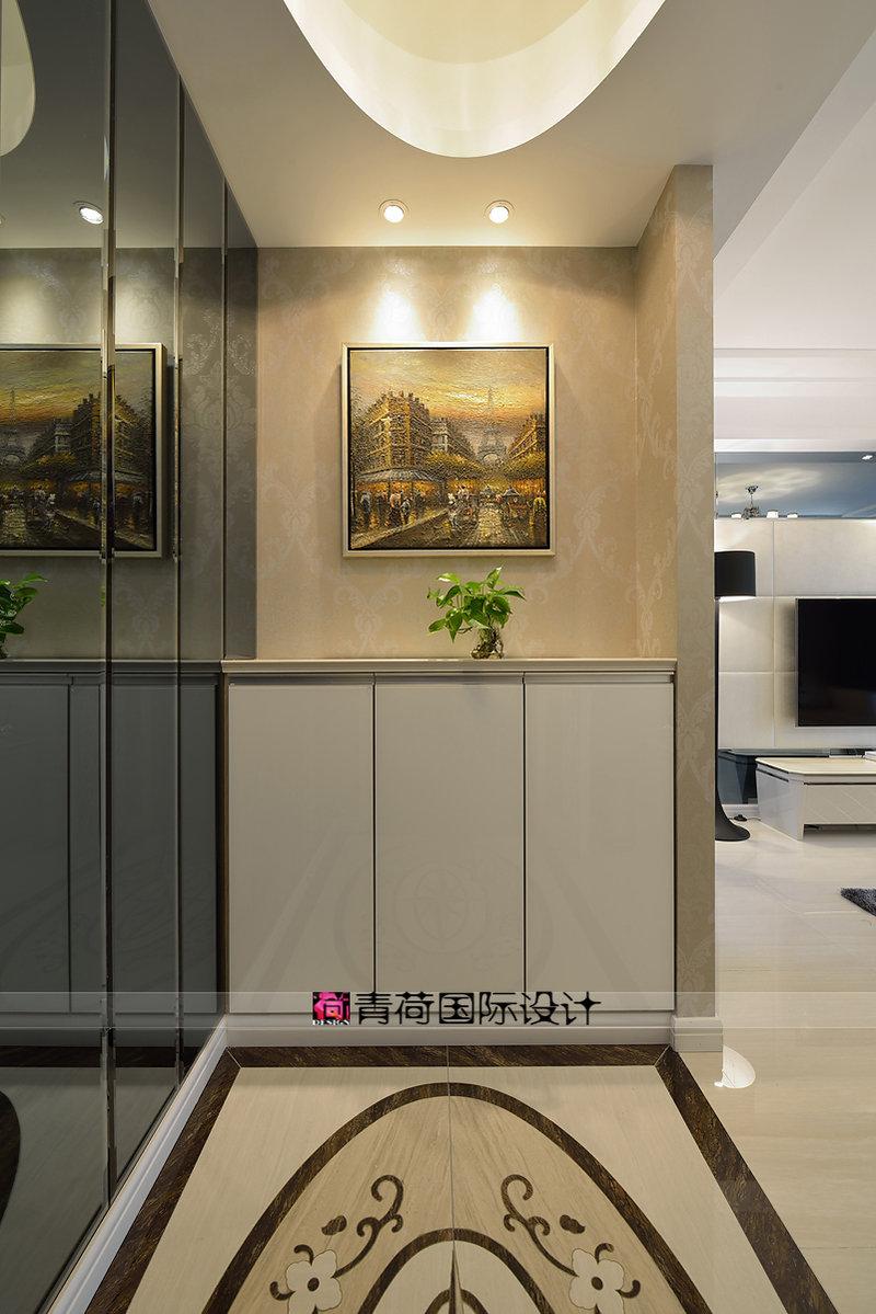 15 20万130平米简约三居室装修效果图,静谧之美装修案例效果图 齐高清图片