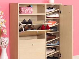 鞋柜也能田园风 15个小户型玄关鞋柜