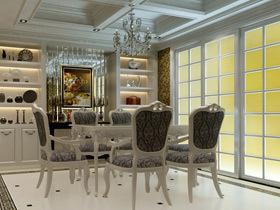 华丽水晶吊灯点缀 19款奢华欧式餐厅