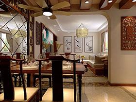 20款中式餐廳吊頂設計 家居也要有中國味