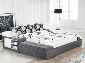 深色布艺床 7图打造温馨舒适卧室