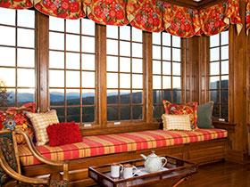 18款中式原木飄窗欣賞 在家感受大自然