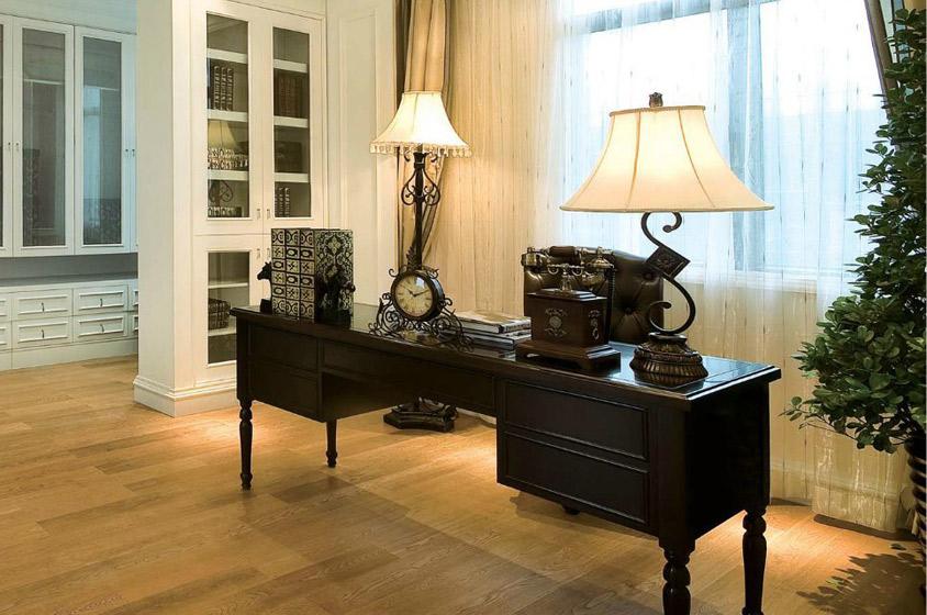 欧式风格奢华书房装潢