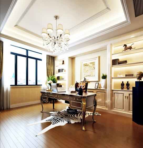 欧式风格奢华书房设计图图片