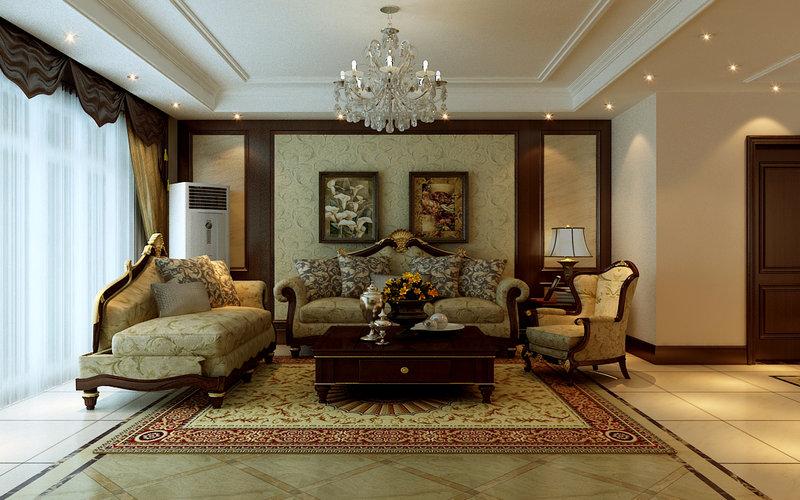 欧式复古别墅装修效果图,室内设计效果图-齐家装修网图片