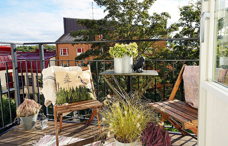 北欧风格简洁阳台设计图