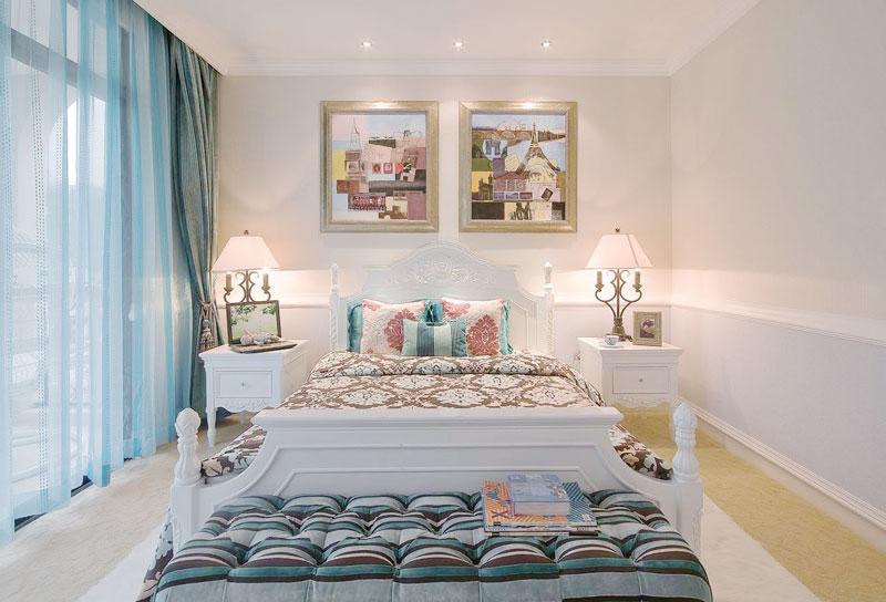 地中海风格卧室窗户图片