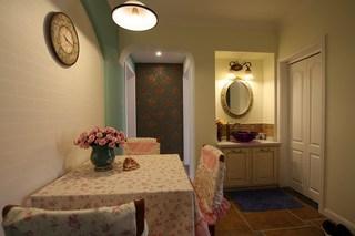 混搭风格一室一厅温馨旧房改造设计图纸